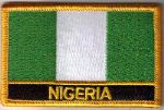 Nigeria Embroidered Flag Patch, style 09.